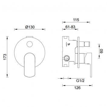 GARETH1540 2SHD-EXT Abey Mixers Tapware Spec sheet