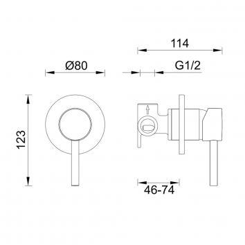 GARETH1545 SH-INT Abey Mixers Tapware Spec sheet