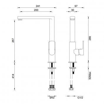 GARETH1800 2K1 Abey Mixers Tapware Spec sheet