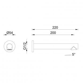 GARETH1820 3BS-S-B Abey Spouts Tapware Spec sheet