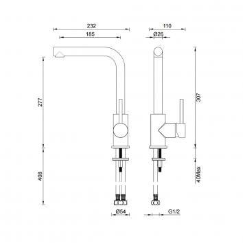 GARETH1930 3K2-B Abey Mixers Tapware Spec sheet