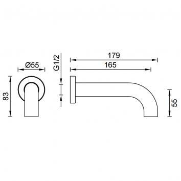 GARETH1975 3S-C165 Abey Spouts Tapware Spec sheet