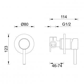 GARETH1995 3SH-EXT Abey Mixers Tapware Spec sheet