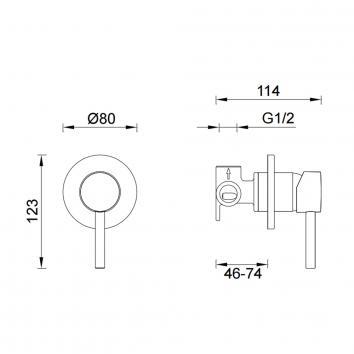 GARETH2000 3SH-EXT-B Abey Mixers Tapware Spec sheet