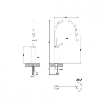 GESSI56155 33609B Gessi Mixers Tapware Spec sheet