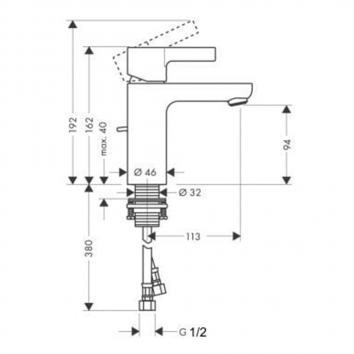 HANSGROHE1135 31060003 Hansgrohe Mixers Tapware Spec sheet