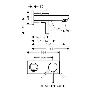 HANSGROHE1136 31162000 Hansgrohe Mixers Tapware Spec sheet