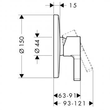 HANSGROHE1146 31665003 Hansgrohe Mixers Tapware Spec sheet