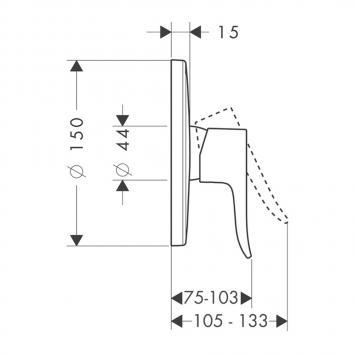 HANSGROHE2815 31685003 Hansgrohe Mixers Tapware Spec sheet