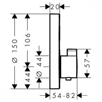 HANSGROHE31420 15744003 Hansgrohe Mixers Showers Spec sheet