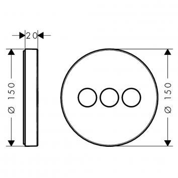 HANSGROHE31430 15745003 Hansgrohe Mixers Showers Spec sheet