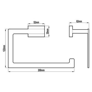 HARMACC10110 BA37026 Harmony Hand Towel Ring / Rail Accessories Spec sheet