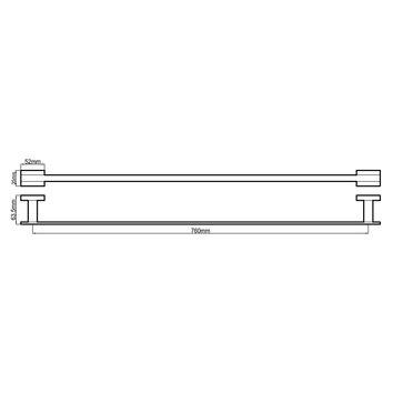 HARMACC10120 BA37023 Harmony Single Towel Rail Accessories Spec sheet