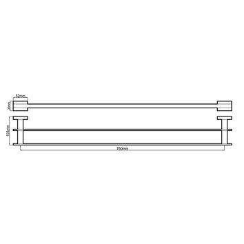 HARMACC10130 BA37025 Harmony Double Towel Rail Accessories Spec sheet