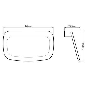 HARMACC10240 BA21026-W Harmony Hand Towel Ring / Rail Accessories Spec sheet