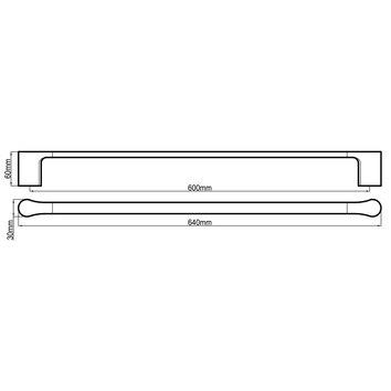 HARMACC10245 BA21024CC Harmony Single Towel Rail Accessories Spec sheet