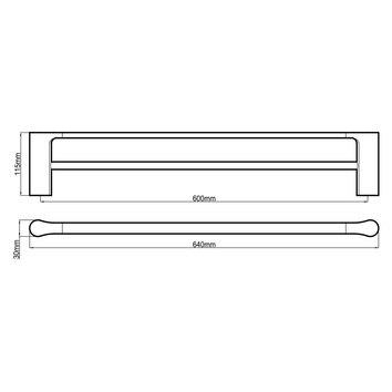 HARMACC10275 BA21022CC Harmony Double Towel Rail Accessories Spec sheet