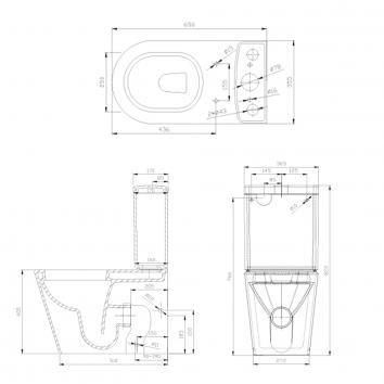 HARMONY10300 W171B/T101BD/BU Harmony Back to Wall Toilets Spec sheet