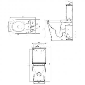 HARMONY10400 W471/T101B/BU53 Harmony Back to Wall Toilets Spec sheet