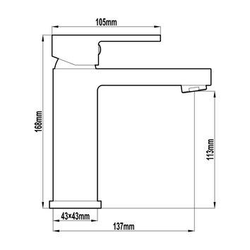 HARMTAP10105 81105-32 Harmony Mixers Tapware Spec sheet