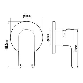 HARMTAP10745 82810-W Harmony Mixers Tapware Spec sheet
