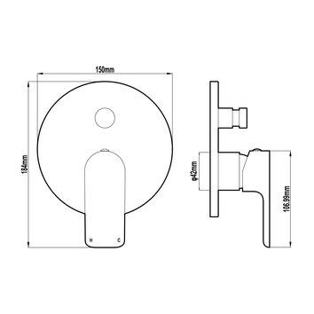 HARMTAP10775 82811-B Harmony Mixers Tapware Spec sheet