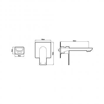 HARMTAP10881 69005-BC Harmony Mixers Tapware Spec sheet