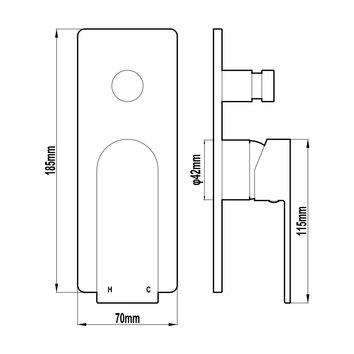 HARMTAP10890 69011-B Harmony Mixers Tapware Spec sheet