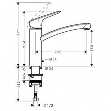 Hansgrohe31170 71832003 Hansgrohe Mixers Tapware Spec sheet