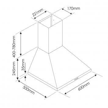 IAG11500 CP6BLS IAG Wall Canopy Rangehoods Spec sheet