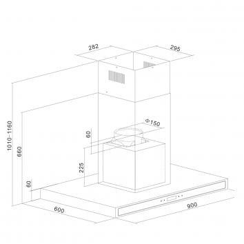 IAG11800  ICF9BLS IAG Wall Canopy Rangehoods Spec sheet