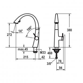 KWC6160 10.201.102.000 KWC Mixers Tapware Spec sheet