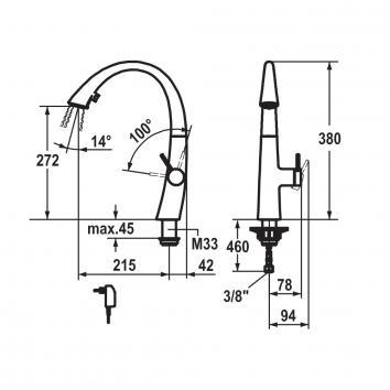 KWC6165 10.201.122.150 KWC Mixers Tapware Spec sheet