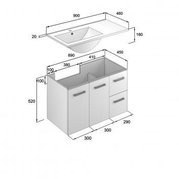 NEKO202070 NV202070 Neko Wall Hung Vanities Furniture Spec sheet