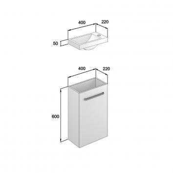 NEKO205110 NV205110 Neko Wall Hung Vanities Furniture Spec sheet