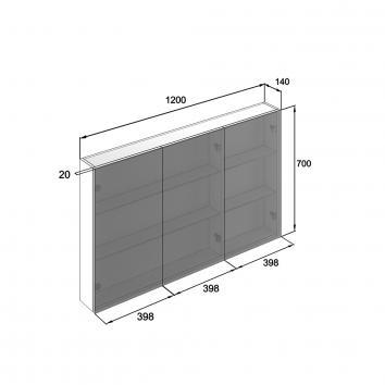 NEKO207020 NV207020 Neko Shaving Mirror Cabinet Furniture Spec sheet