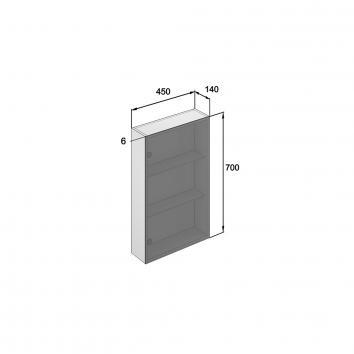 NEKO207200 NV207200 Neko Shaving Mirror Cabinet Furniture Spec sheet