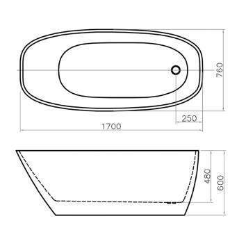 NEKO400300 NBATH400300 Neko Freestanding Baths Spec sheet
