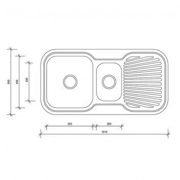 NEKO600310 NS600310 Neko Overmount Sinks Spec sheet
