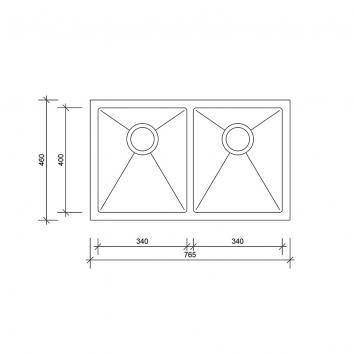 NEKO602600 NS602600 Neko Overmount Sinks Spec sheet