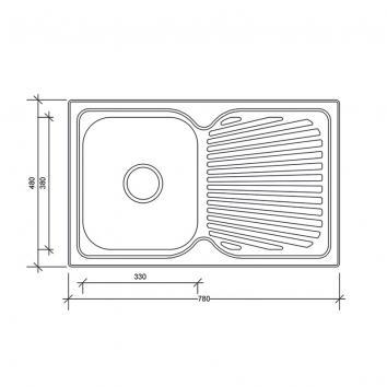 NEKO604000 NS604000 Neko Single Bowl Sinks Spec sheet
