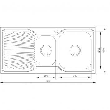 NEKO604100 NS604100 Neko Overmount Sinks Spec sheet