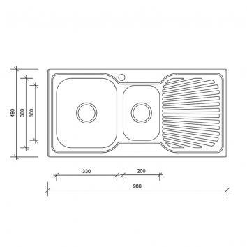 NEKO604105 NS604105 Neko Overmount Sinks Spec sheet