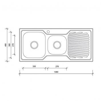 NEKO604205 NS604205 Neko Overmount Sinks Spec sheet