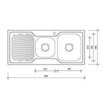 NEKO604210 NS604210 Neko Overmount Sinks Spec sheet