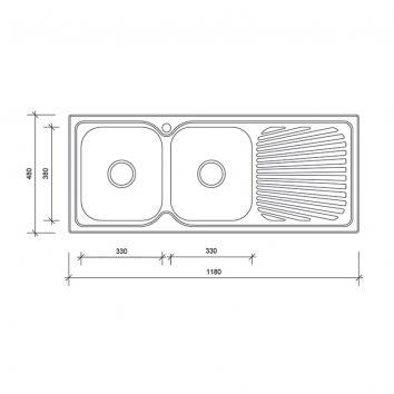 NEKO604305 NS604305 Neko Overmount Sinks Spec sheet