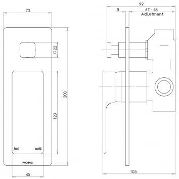 PHOENIX18015 GS791 CHR Phoenix Tapware  Tapware Spec sheet
