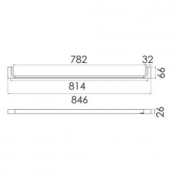 PHOENIX18510 GS802 Phoenix Tapware Single Towel Rail Accessories Spec sheet