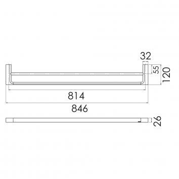 PHOENIX18515 GS811 Phoenix Tapware Double Towel Rail Accessories Spec sheet