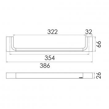 PHOENIX18520 GS893 Phoenix Tapware Hand Towel Ring / Rail Accessories Spec sheet